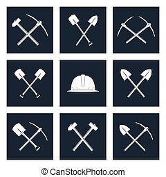 Set Icons of Working Tools - Set Icons of Working Equipment,...