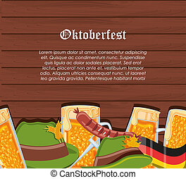 set icons oktoberfest celebration