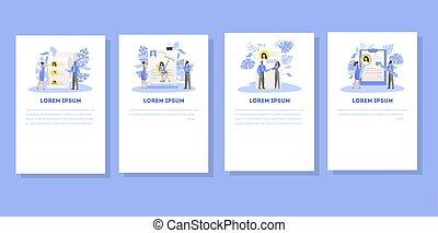 set., idée, document, application, emploi, approuvé