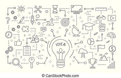 set., idéia, ícones