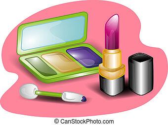 set, illustratie, beauty