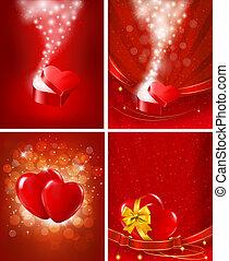 set, illustration., fidanzato, vettore, backgrounds., giorno