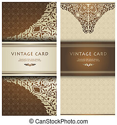 Set in card in traditional oriental style.