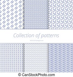 Set infinite pastel backgrounds. Female abstract patterns...