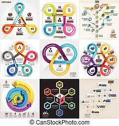 set., infographic, negócio, modelo