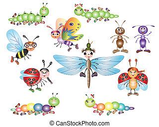 set, insecten