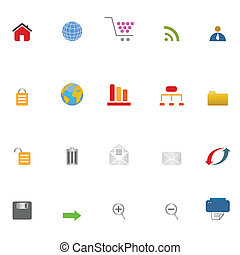 set, internetten ikoon