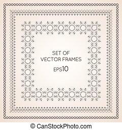 Set intricate vector frames