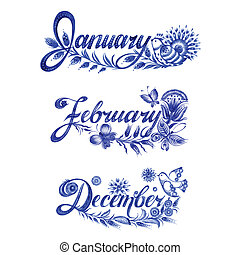 set, inverno, nome, mese