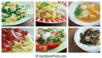 set Italian cuisine
