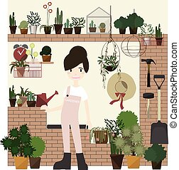 set., jardinage