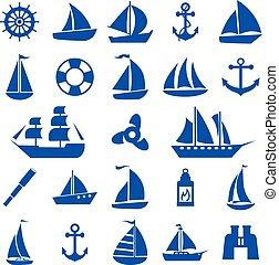 set., jelkép, vitorlás hajó
