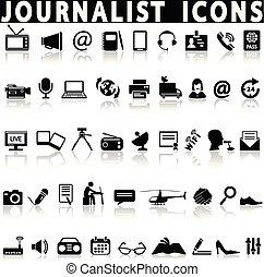 set., journaliste, icônes