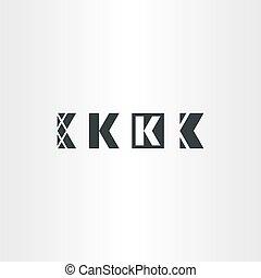 set, k, elementi, lettera, logotipo, icona
