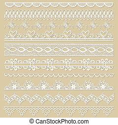 set, kant, -, vector, ontwerp, plakboek, linten