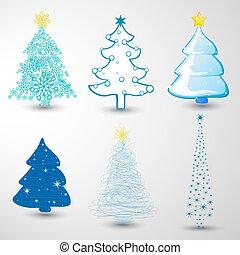 set, kerstbomen