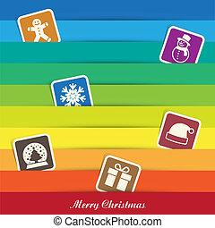 set., kerstmis, pictogram