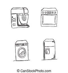 set kitchen appliances