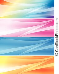 set, kleur, abstract, achtergronden, vector, (headers)