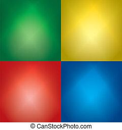 set, kleur, licht, -, achtergronden, vector, balken