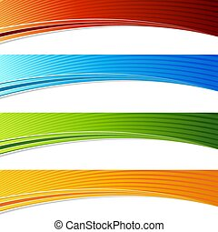 set, kleur, vibrant, bocht, golf, boog, spandoek