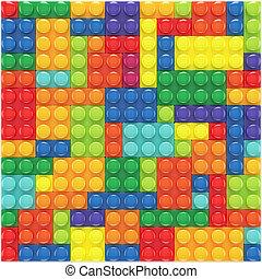 set, kleurrijke, lego