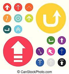 set, knopen, vector, ontwerp, gebruikersinterface