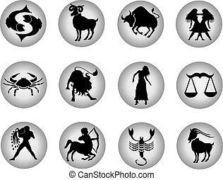 set, knopen, zodiac