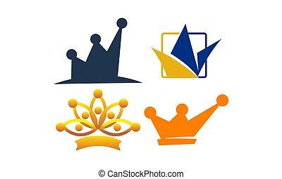 set, kroon, mal, pictogram