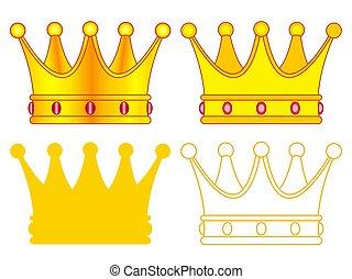 set, kroon, pictogram