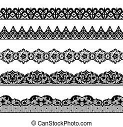 Set lace borders