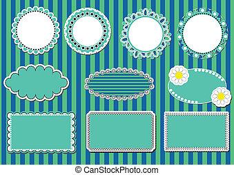 set lace frames. vector illustratio