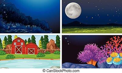 set, landscape, natuur