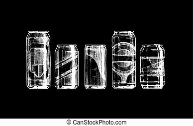 set, lattine, bevanda