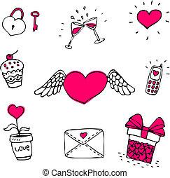 set, liefde, iconen