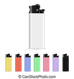 set, lighters, vector