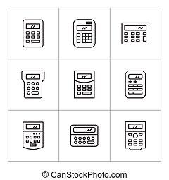 Set line icons of calculator