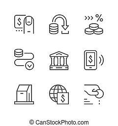 Set line icons of payment