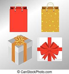 set, lint, kado, geschenk buiging