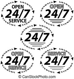 set logo 24 hours 7 days week - set logo service 24 hours 7...