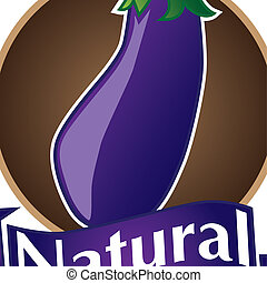 set logo of natural, organic and healthy product