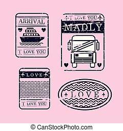 set love seals icons