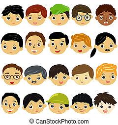 set), (male, איש, בחורים, ילדים