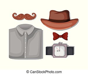 set male accessories icons