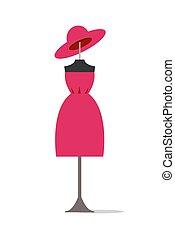 set, manifesto, vestire, illustrazione, vettore, cappello