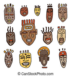 set., masques, africaine