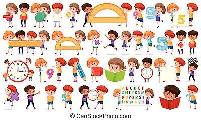 set, matematica, bambini