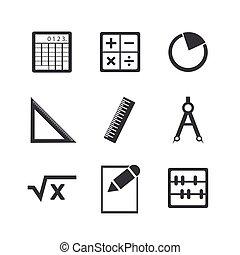 set., mathe, ikone