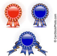 set, medaglie