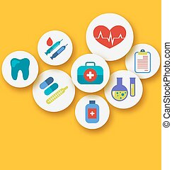 Set medical icons for web design